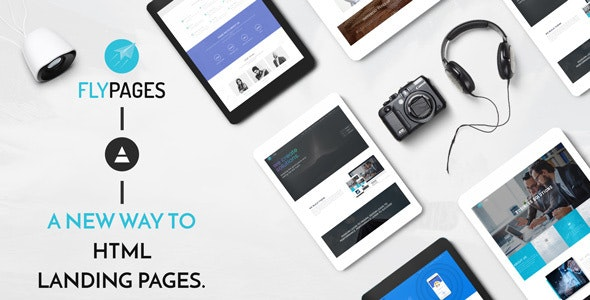 FlyPages - One Page HTML Template With Builder - Creative Site Templates
