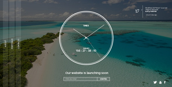 TIMER: Responsive Countdown Clock Landing Page - Under Construction Specialty Pages