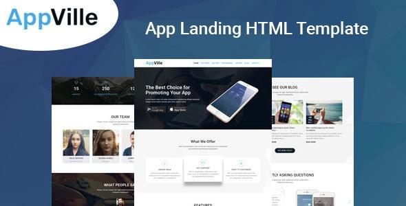 AppVille - App Landing Page - Technology Site Templates