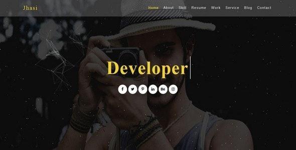 Jhasi-One Page Portfolio Template ( Single Blog Page Included ) - Portfolio Creative