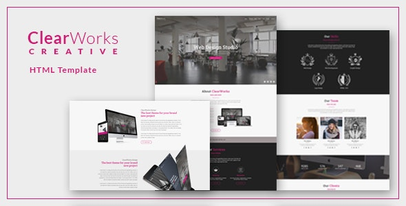 ClearWorks - Multipurpose One Page HTML Template - Site Templates