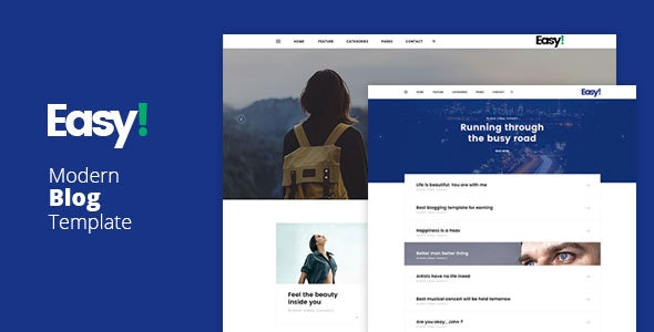 Easy - Modern Blog Template - Personal Site Templates