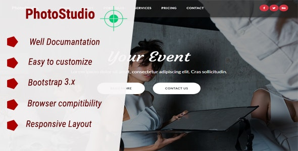 PhotoStudio - Responsive HTML Photography Template - Photography Creative