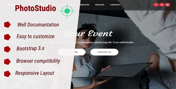 PhotoStudio - Responsive HTML Photography Template
