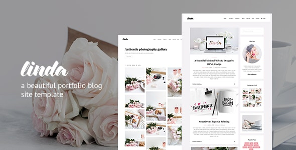 Linda | Portfolio Blog Responsive HTML Template - Creative Site Templates