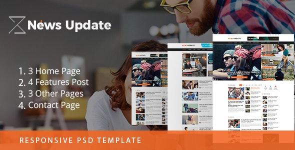 News Update Blog - PSD Template - Photoshop UI Templates