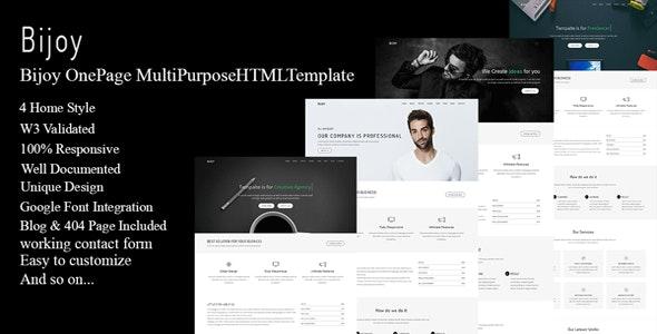 Bijoy - OnePage MultiPurpose HTML Template - Creative Site Templates