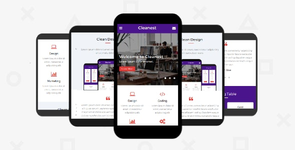 Cleanest – Mobile Template - Mobile Site Templates