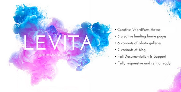 Levita -  Photography WordPress - Photography Creative