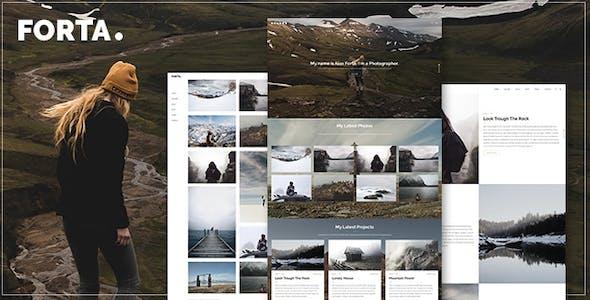 Forta | Photography WordPress Theme