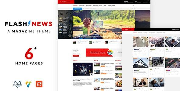 Flash - Newspaper WordPress Theme - News / Editorial Blog / Magazine