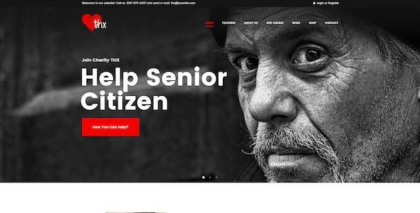 THX - Charity & donation PSD Template