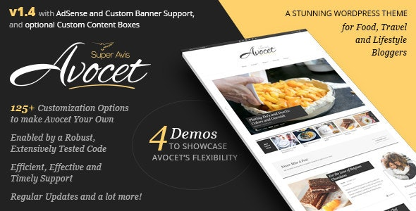 Avocet - Lifestyle & Fashion blog theme - Blog / Magazine WordPress