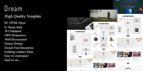 Dream - Multipurpose Portfolio Template - Creative Site Templates