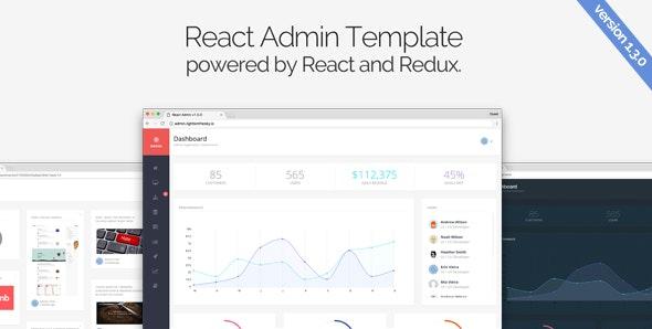 React Admin - Admin Templates Site Templates