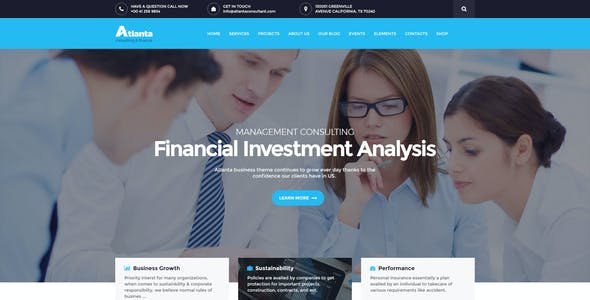 Atlanta - Consulting & Finance WordPress Theme