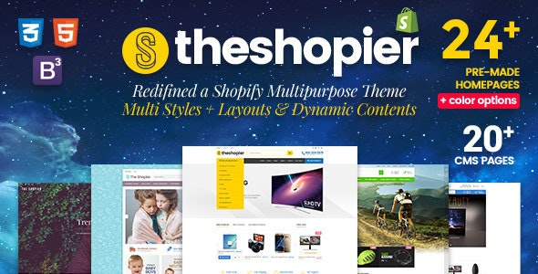 SHOPIER | Creative Multi-Purpose Shopify Theme - Fashion,Supermarket,Electronics,Minimal - Shopify eCommerce