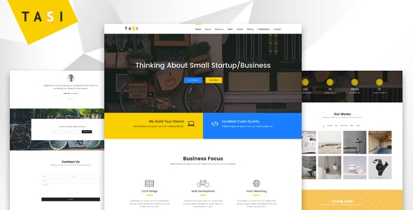 Tasi - Responsive One Page HTML Template - Business Corporate