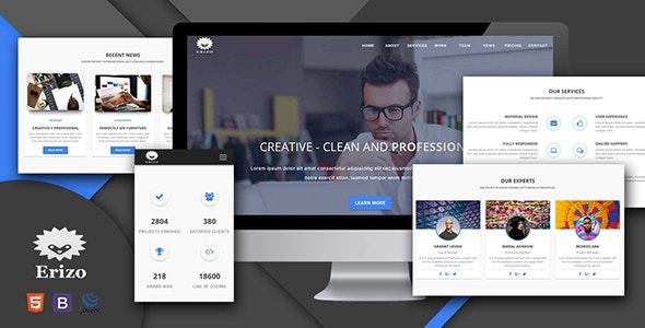 Erizo - Material Design Multipurpose Template - Portfolio Creative