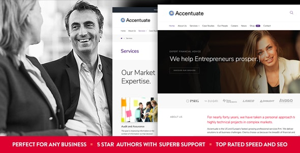 Accentuate - A Professional Consulting WordPress Theme - Business Corporate