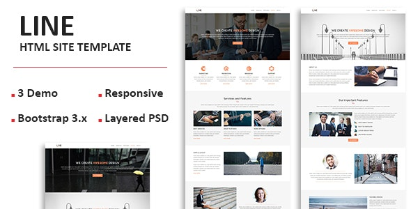 Line - Multipurpose Responsive One page HTML Template - Corporate Site Templates