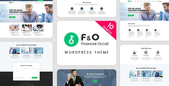 F&O - Consultant Finance PSD Templates - Business Corporate