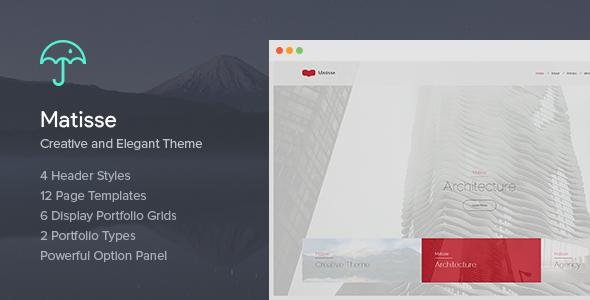 Matisse - Creative & Elegant Theme - Creative WordPress