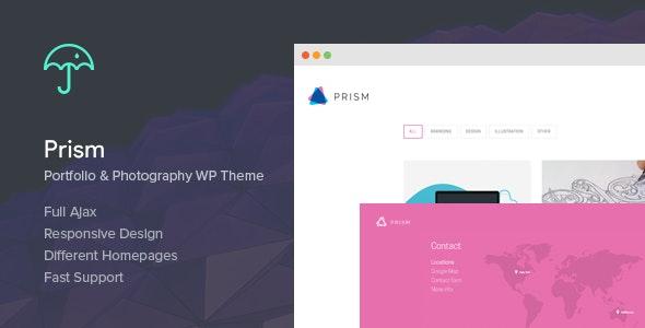 Prism - Portfolio & Photography Retina Theme - Creative WordPress