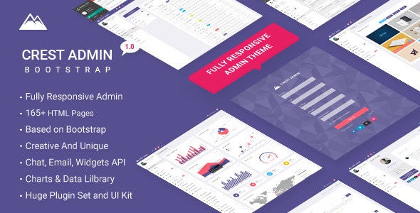 Crest Bootstrap Admin Theme - Admin Templates Site Templates