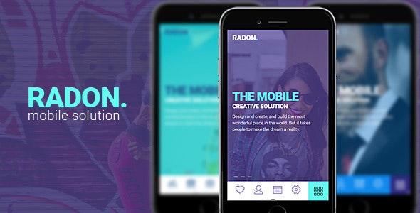 RADON HTML Mobile Template - Mobile Site Templates