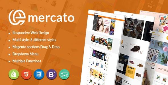 Emercato Creative Magento Theme - Fast Load & Large Store Design