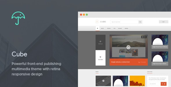 Cube: Front-end Multimedia Publishing WP Theme - Blog / Magazine WordPress
