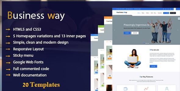 Business Way - Multi Purpose Corporate HTML Template - Business Corporate