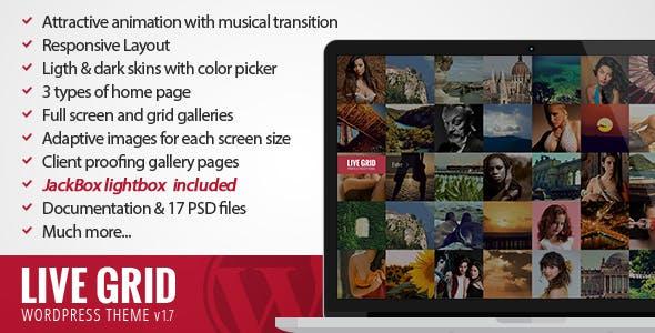 LIVE GRID - Responsive Interactive Wordpress Theme