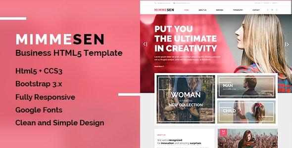 MIMMESEN   Creative Corporate HTML5 Template - Site Templates