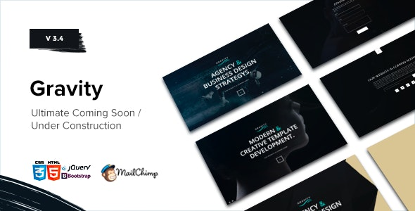Gravity // Coming Soon - Under Construction - Under Construction Specialty Pages