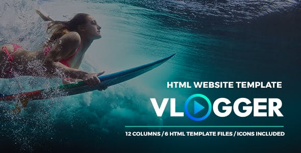 Vlogger - HTML Website Template for Youtubers and Video Tutorials