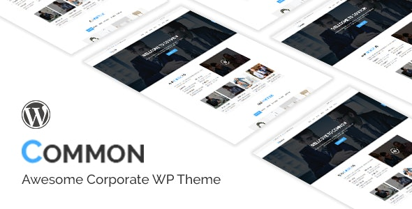 Common- One Page and Multipages WordPress Theme - Business Corporate