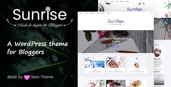 Sunrise - An Elegant WordPress Blog Theme - Personal Blog / Magazine