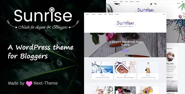 Sunrise - An Elegant WordPress Blog Theme