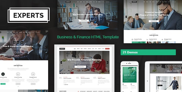 Experts - Multipurpose Business & Finance HTML5 Template - Business Corporate