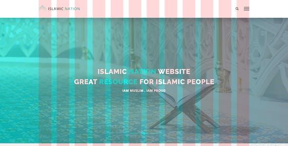 Islamic Nation - Islamic PSD Template