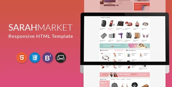 SarahMarket - Supermarket Responsive HTML Template - Retail Site Templates