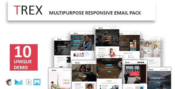 TREX - Multipurpose Responsive Email Pack - Newsletters Email Templates