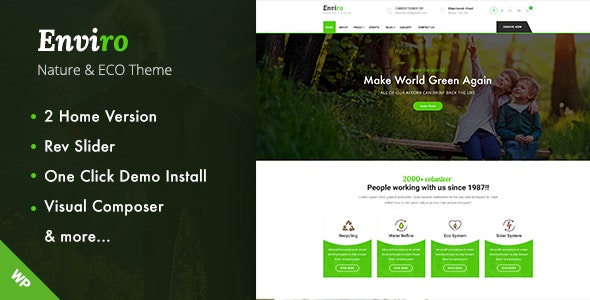 Enviro - Environment WordPress Theme - Environmental Nonprofit