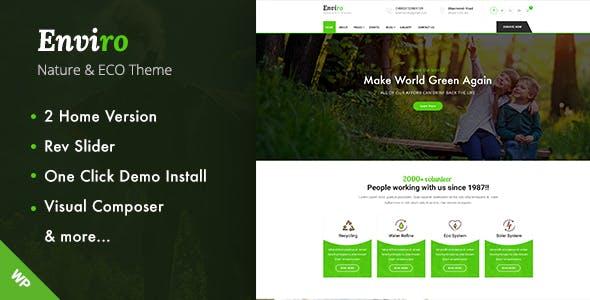 Enviro - Environment WordPress Theme
