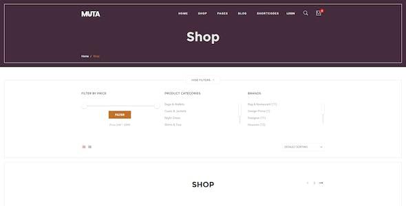 Muta - Clean, Multi-Purpose Responsive WooCommerce WP Theme