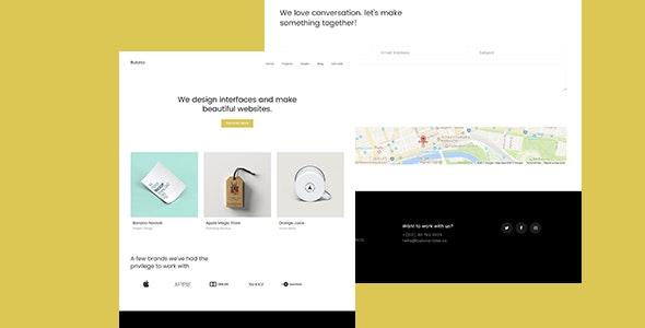 Bulona -- Minimal Portfolio & Agency Template - Creative Site Templates