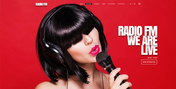 Radio FM HTML Bootstrap Template