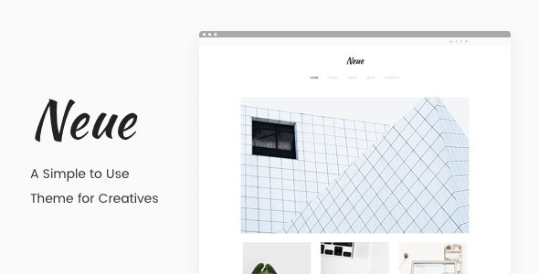 Neue - A Simple Portfolio Theme - Creative WordPress
